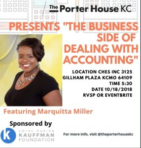 "Porter House KC Presents ""Business Side of Accounting"" @ CHES, Inc. 